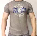 Poolman T-Shirt Rundhals dunkelgrau grün