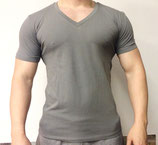 Poolman T-Shirt V-Neck Basic grau