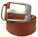 Gürtel aus Vollrindleder mit extrem starker Schnalle 5cm breit braun