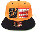 Snapback Cap New York orange-schwarz