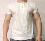 Poolman T-Shirt Knöpfe weiß
