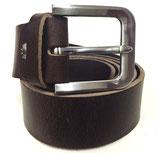 Gürtel aus Vollrindleder mit extrem starker Schnalle 4cm breit braun