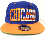 Snapback Cap Chicago blau-orange