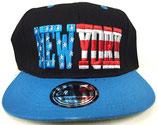Snapback Cap New York schwarz-blau