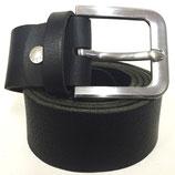 Gürtel aus Vollrindleder mit extrem starker Schnalle 4cm breit schwarz