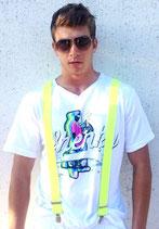 Hosenträger Neon Gelb Y-Form 3 Klips