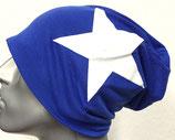 Jersey Beanie royalblau mit Stern