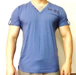 Poolman T-Shirt V-Neck Shirt blau