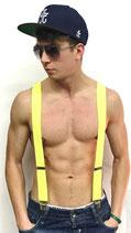 Hosenträger 3 Klips Y-Form in neon-gelb