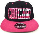 Snapback Cap Chicago schwarz-pink
