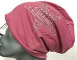 Jersey Beanie rosa mit Stern