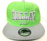 Snapback Cap Dallas grün-silber
