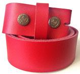 XXL Wechselgürtel aus Echtleder ohne Schnalle 4cm breit rot