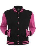 Urban Classics Collegejacke 2-tone schwarz pink