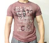 Poolman T-Shirt Rundhals rot melange