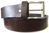 Büffelleder Gürtel mit starker Schnalle 4cm breit dunkelbraun