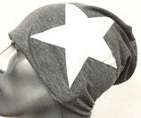 Jersey Beanie grau mit Stern