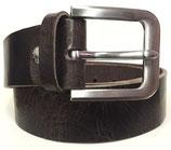 Gürtel aus Vollrindleder mit extrem starker Schnalle 4cm breit vintage-braun
