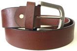 Büffelleder Gürtel mit starker Schnalle 4cm breit bordeaux-braun