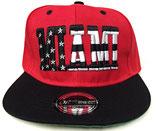 Snapback Cap Miami rot-schwarz