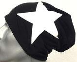 Jersey Beanie schwarz mit weißem Stern