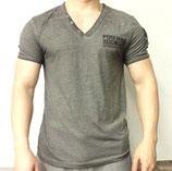 Poolman T-Shirt V-Neck Shirt dunkelgrau