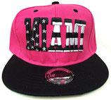 Snapback Cap Miami pink-schwarz