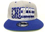 Snapback Cap Chicago grau-blau