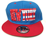 Snapback Cap New York blau-rot