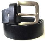 Büffelleder Gürtel mit starker Schnalle 4cm breit schwarz