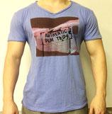 Poolman T-Shirt V-Neck hellblau