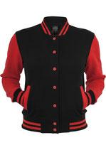 Urban Classics Collegejacke 2-tone schwarz rot