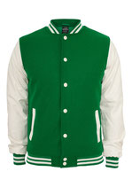 Oldschool College Jacket Jacke green/white