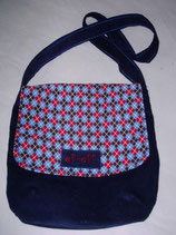 """FLAP BAG"" SQUARE`N`BLUE"