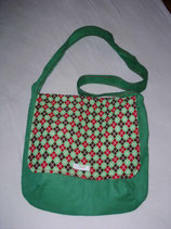 """FLAP BAG"" SQUARE`N`GREEN"