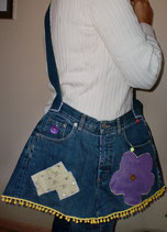 """PANTS BAG"" PURPLE-YELLOW"