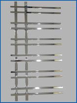 Designbadheizkörper VENTO Chrom  1200 x 550 mm. inkl. SQUARE Ventil