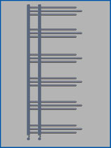 Designbadheizkörper NERISSA Chrom