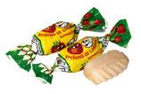 """(Nr.12020) Hartkaramellen """"Klubnika so slivkami"""" mit Erdbeergeschmack"""