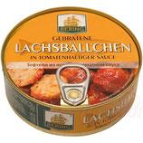 (Nr.40270) Gebratene Lachsbaellchen in tomatenhaltiger Sauce