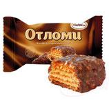 """(Nr.11004) Waffelschnitte """"Otlomi"""" mit Creme und Weichkaramell in kakaohaltiger Fettglasur"""