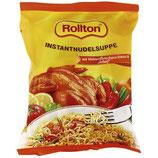 """(Nr.70410) Instantnudelsuppe mit Hühnerfleischgeschmack scharf """"Rollton"""" 60g"""