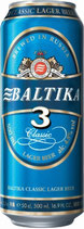 "(Nr.91600) Bier ""Baltika"" Nr. 3, 4,8% vol. Plato 12% 500 ml"