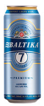 "(Nr.91610) Export Lager Bier ""Baltika"" Nr. 7, 5,4% vol. Plato 12% 500 ml"