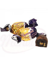 (Nr.11005) Konfekt mit trocken Pflaume und Walnuss in kakaohaltiger Fettglasur
