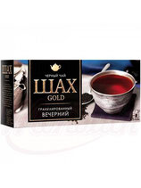 """(Nr.30300) Schwarzer indischer Tee """"Schah Gold"""" - Bergamotte 25 Btl."""