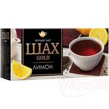 """(Nr.30301) Schwarzer indischer Tee """"Schah Gold""""  Zitrone 25 Btl."""