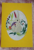 Art:Nr:005 Osterkarte mit Stickmotiv Klappkarte mit Umschlag