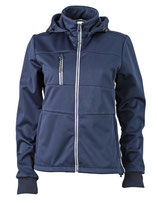 Ladies´ Maritime Softshell-Jacket Navy White