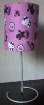 """Art:Nr:9871 Tischlampe , Motiv """"Hello Kitty und Pudel"""""""
